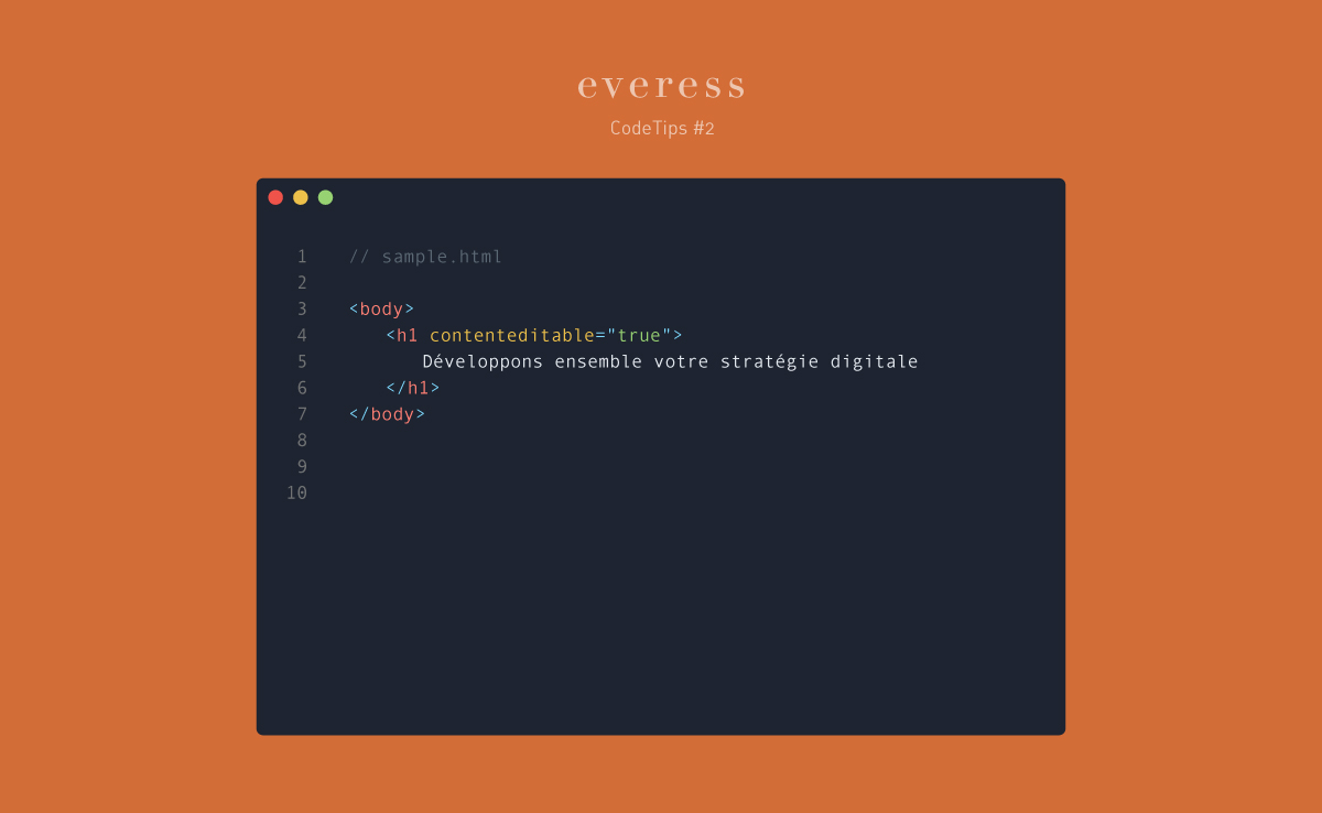 CodeTips #2 - L'attribut contenteditable